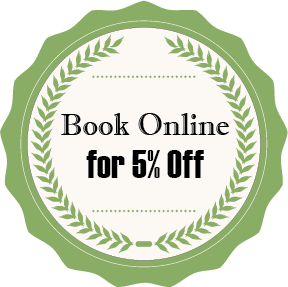 Book Online for 5% off